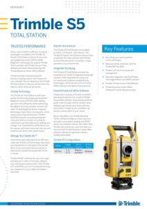 Brochure Trimble S5 - Geometius