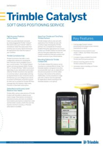 Brochure Trimble Catalyst - Geometius