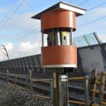 De beweging van een spoorviaduct